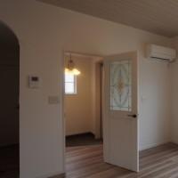 ホワイトオークの床と天井
